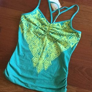 Prana Leyla Top in green and yellow